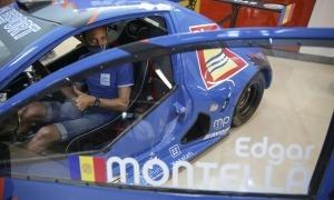 El pilot va presentar el nou disseny del seu SilverCar amb nous patrocinadors. Foto: Facundo Santana