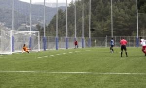 Genís Soldevila va avançar a l'Inter amb un gol de penal contra l'FC Santa Coloma. Foto: Facundo Santana