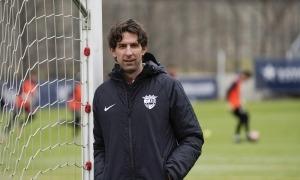El director esportiu de l'FC Andorra, Jaume Nogués, va fer balanç d'aquest 2020 ahir al matí a Prada de Moles. Foto: FC Andorra