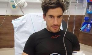Joan Barreda va ser evacuat a l'hospital. Foto: Facebook