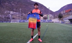 Kike Saverio va arribar ahir a la tarda. Foto: FC Andorra