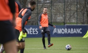 Marc Aguado, a Prada de Moles. Foto: FC Andorra