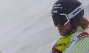 Matías Vargas, esquiador alpí de la FAE. Foto: FAE