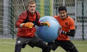 Nico Ratti, en un entrenament. Foto: FC Andorra