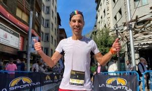 Òscar Casal es va imposar ahir a la prova de la Carroi de la Sportiva Andorra Trail. Foto: VSL Sports