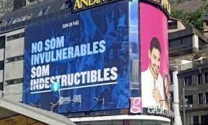 La pancarta i l'inici de campanya. Foto: BC MoraBanc