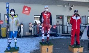 Roger Puig va tornar a pujar al tercer esglaó del podi del Nacional Austríac. Foto: FAE