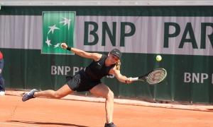 Vicky jugarà avui els quarts de final en individual i dobles al Roland Garros júnior. Foto: Miguel Ángel Zubiarrain