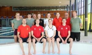 La selecció d'Alemanya de natació, al Pas de la Casa. Foto: Comú d'Encamp