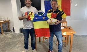 Dani Raya, el seleccionador, i Jean Marc Flaux, el president de l'ens. Foto: V. D.