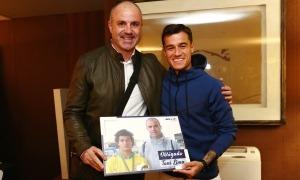 Toni Lima té alguns 'descobriments' de talents, com el cas del brasiler de l'FC Barcelona, 'Coutinho', amb qui té una bona amistat. Foto: Foto cedida per Toni Lima