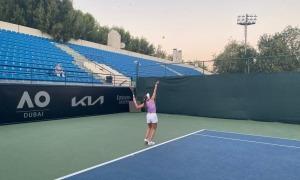 Vicky Jiménez quan va jugar a Dubai. Foto: Foto cedida per Joan Jiménez