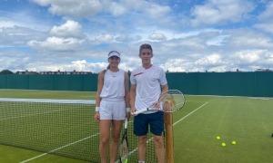 Vicky, entrenant per Wimbledon. Foto: Foto cedida per Joan Jiménez