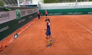 Vicky Jiménez, al Roland Garros. Foto: Joan Jiménez