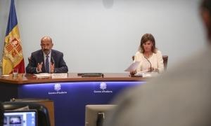 Martínez Benazet i Vilarrubla han comparegut per exposar el doble cribratge a la comunitat educativa.