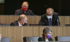 Els consellers generals de Terceravia, ahir durant la sessió del Consell General.