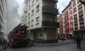 L'immoble afectat pel foc.