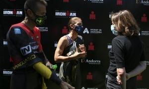 Un instant de la presentació de l'acord amb Ironman que permetrà organitzar l'Andorra Multisport Festival.