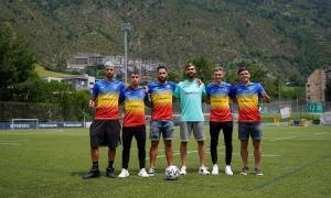 Sis fitxatges de l'FC Andorra. Foto: FC Andorra