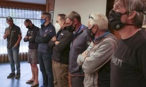 Els responsables tècnics de la FIS del circuit europeu van visitar l'Àliga i l'Avet. Foto: Facundo Santana
