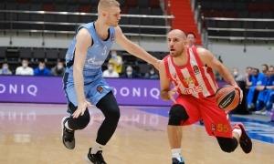 Quino Colom es va estrenar amb la samarreta de l'Estrella Roja. Foto: Euroleague.net