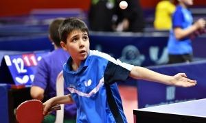 Oriol Martínez, del CTT Valls del Nord. Foto: Federació Andorrana de Tennis Taula