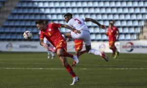Christan García, central ara de la selecció absoluta, va marcar l'empat a 3. Foto: Facundo Santana