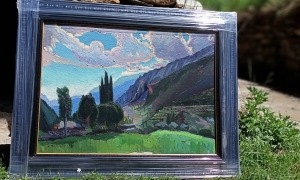L'esbós de 'Crepuscle', fins ara inèdit: fa 50 per 70 centímetres, i Mir el va pintar en la campanya del 1934, quan es va establir a l'hotel Valira d'Escaldes.