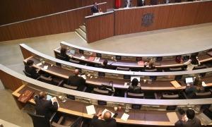 Un moment de la sessió del debat d'orientació política d'ahir al Consell General.