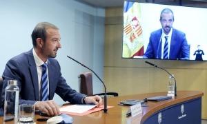 El ministre Jordi Torres va presentar el reglament de la construcció ahir a la tarda.