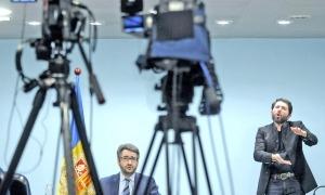 El ministre portaveu, Eric Jover, en la roda de premsa d'ahir.