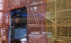 Treballs de construcció en una obra d'Andorra la Vella.
