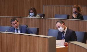 El ministre de Presidència, Economia i Empresa, Jordi Gallardo, aquest dijous.