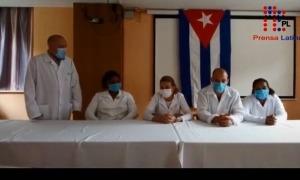 Alguns dels membres del grup de sanitaris cubans que es troba a Andorra.