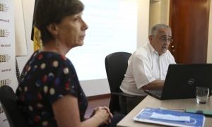 La directora de la CASS, Joaquima Sol, i el president del consell d'administració de la parapública, Albert Font, van comparèixer ahir.