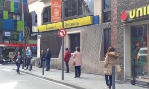 L'oficina de Correus a Andorra la Vella.