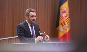 El ministre de Finances, Eric Jover, en un moment de la seva intervenció ahir en la sessió del Consell General.