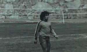 Maradona entrenant-se a l'Estadi Comunal. Foto: Twitter FC Andorra