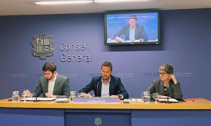 Roger Padreny, Pere López i Susanna Vela, ahir.