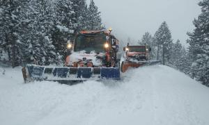Durant tota la jornada d'ahir es va treballar en la neteja de les carreteres principals i secundàries.