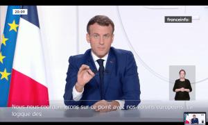 Macron, el 24 de novembre, quan va anunciar el relaxament de les restriccions.