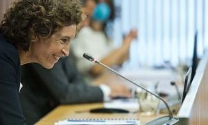 La ministra d'Afers Exteriors, Maria Ubach, va comparèixer ahir davant la comissió legislativa de política exterior.