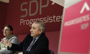 Jaume Bartumeu i Josep Lluís Donsion, en la roda de premsa d'ahir a la tarda.