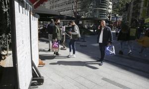 L'eix comercial es va veure ben atapeït de visitants entre dissabte i dimarts.