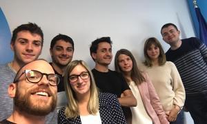 La nova executiva de Joves Liberals d'Andorra.