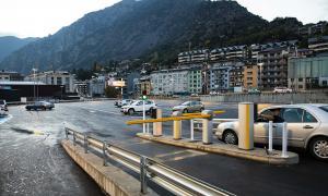 L'aparcament Valira, on es preveu ubicar el Cirque du Soleil aquest estiu.