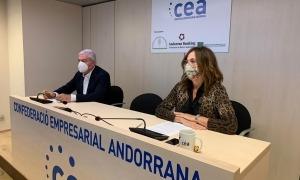 Gerard Cadena i Sònia Yebra, presidenta dels empresaris de l'Eix Central.