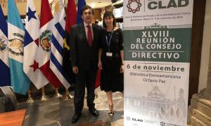 La ministra Eva Descarrega a la reunió del Centre Llatinoamericà d'Administració per al Desenvolupament.