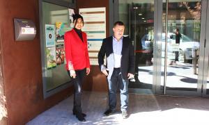 Els candidats de Terceravia+UL a Sant Julià, Carine Montaner i Josep Majoral.