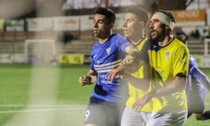 'Cucu', amb el CF Igualada, en un partit d'aquesta temporada a tercera divsiió.